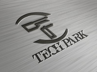Tech park illustration design logo