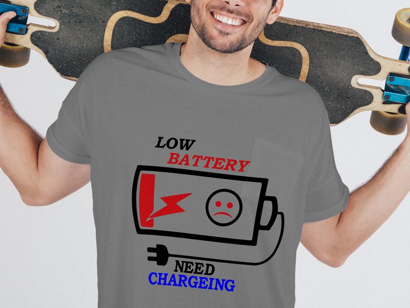 Low Battery icon logo illustration design