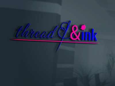 Thread and Ink 3d icon design logo