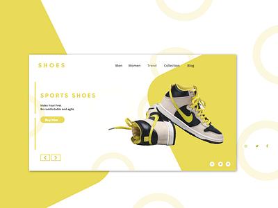 Shoe Ux Design design ui ux uxui web
