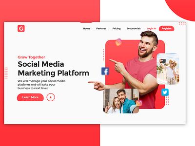 Grow - Social Media Marketing webdesign web design