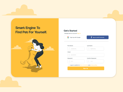 Daily UI Day 01 sign up ui signup uxui design web