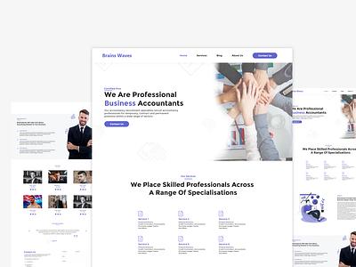 Accountant Agency Website web design ui ux uxui