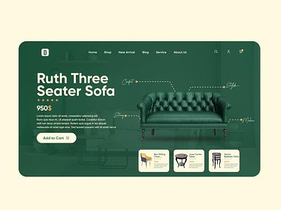 Decor Design furniture sofa minimal web design ui ux uxui