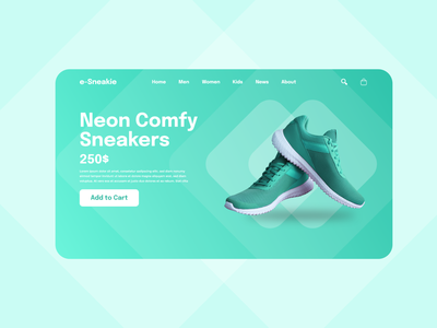 Sneakie ~ Practice Design shoes design web uxui ux ui