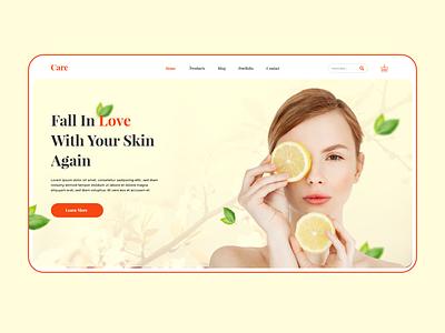 Care skin care skincare design web ui ux uxui