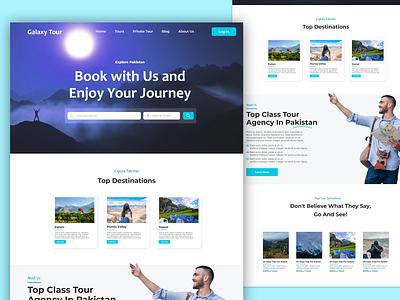 Galaxy Tour tour travel design web uxui