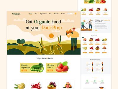 Organo ~ Organic Food Store ux ui uxui web design