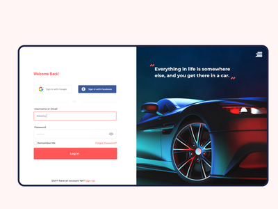 Car Own | Daily UI Challenge branding car travel design uxui web