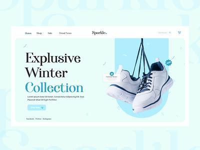 Sparkle sneakers shoe ui design uxui web