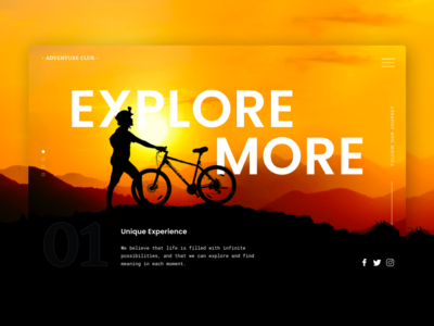 Explore More landing page header exploration