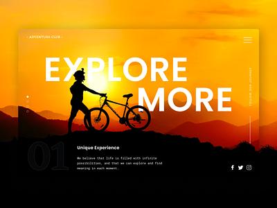 Explore More landing page header exploration travel agency adventure explore hero design website concept ui header exploration hero image website design landing page