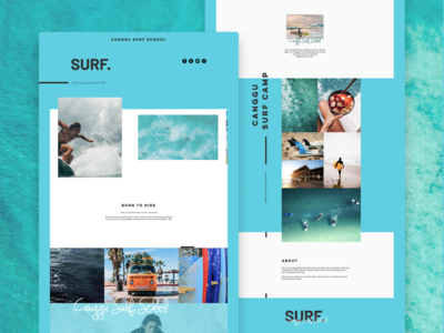 Surf School Landing Page Concept