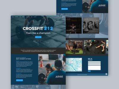 CrossFit 212 website concept