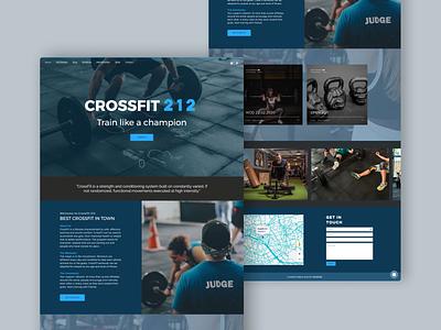 CrossFit 212 website concept website design blue landing gym crossfit design