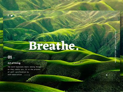 Breathe landing page header exploration design exploration ui landing page hero image header hero website design