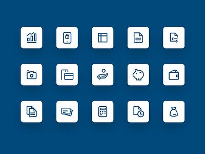 Erste mBanking Serbia — Icon Design icon set uidesign bankingapp bank icon design icon pack icon ui app design