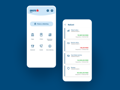 Erste mBanking Serbia — Icon Design icon set icon design icon bankingapp bank app design uidesign ui design