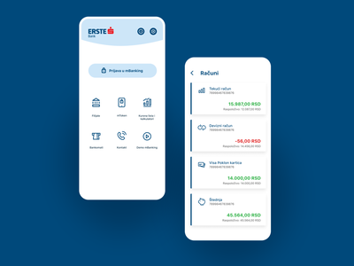 Erste mBanking Serbia — Icon Design icon set icon design icon bankingapp bank app design uidesign ui design