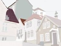 Bergen vol 1 drawing illustration city