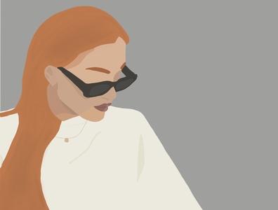 Another Self-Portrait sun hair design art illustration