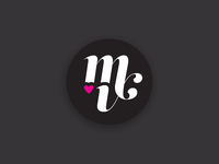 MV hearts monogram