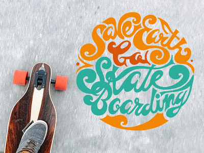 Earth Day earth day lettering art art type daily type art illustration longboarding skateboarding custom lettering lettering typogaphy