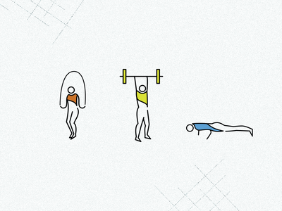 CrossFit Icons training exercise illustration icon branding icons design icons design fitness app fitness crossfit