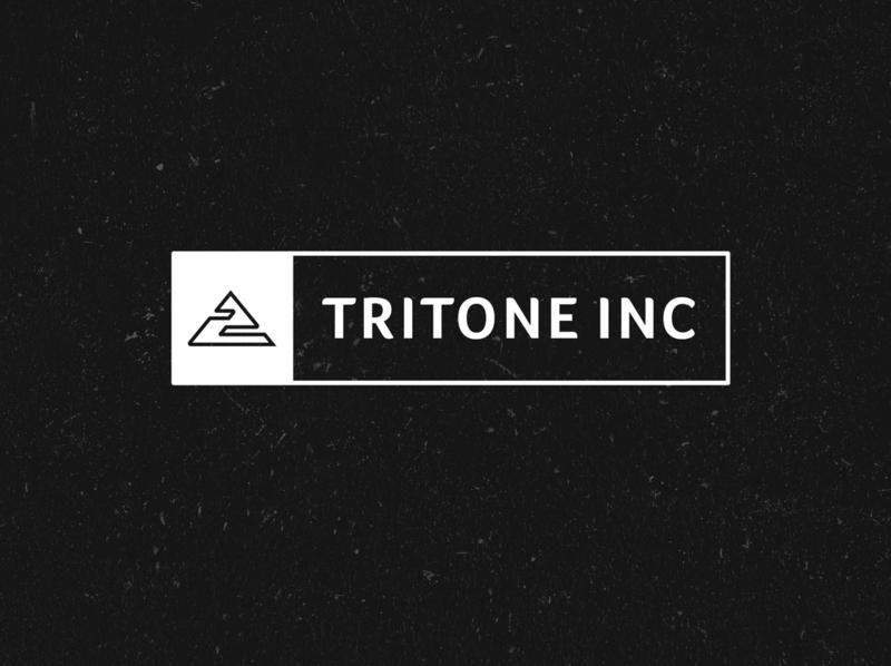 Tritone INC logotype brand identity design logo mark logo design brand identity design icon identity branding