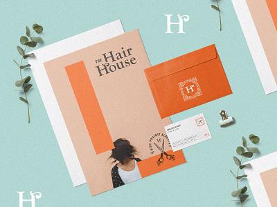 The Hair House brand identity icon design business card monogram icon identity typography branding design branding stationery