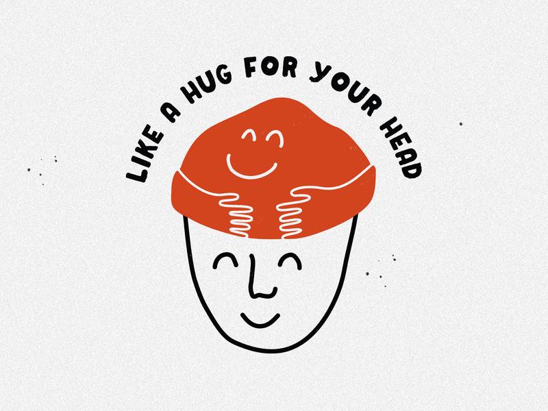 Hug for your head - Krochet Kids illustrator ipad pro illustration art apparel apparel graphics t-shirt illustration illustration t-shirt design apparel design