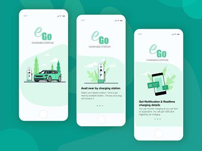 e-Go Charging Station ux iot illustration design ui