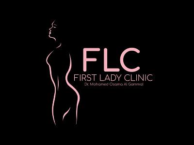 FLC (First Lady Clinic) Logo branding vector logo design illustration