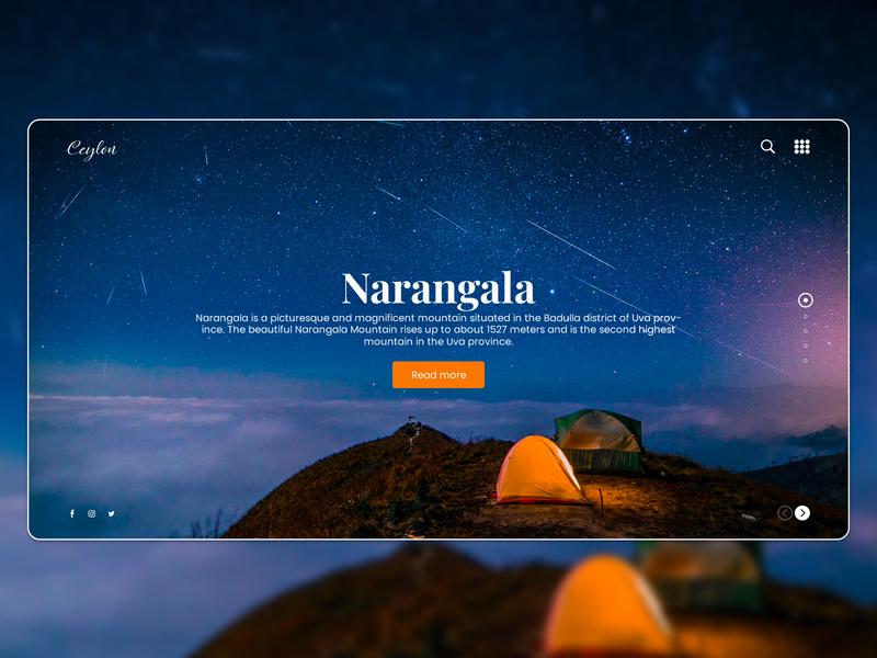 "Landing Page UI designs for ""CEYLON"" landing page design design web ux ui landing page landing page concept"