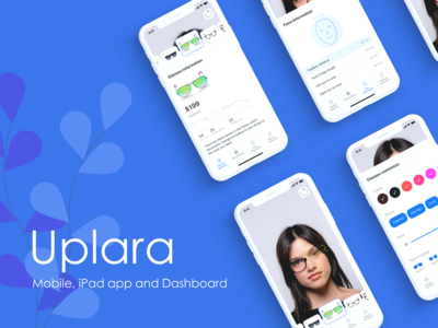 Uplara concept app - Mobile, iPad and Dashboard