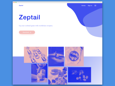 Zeptail - up your cocktail game with worldclass recipes.