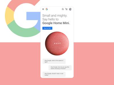 Google Home Mini re-design