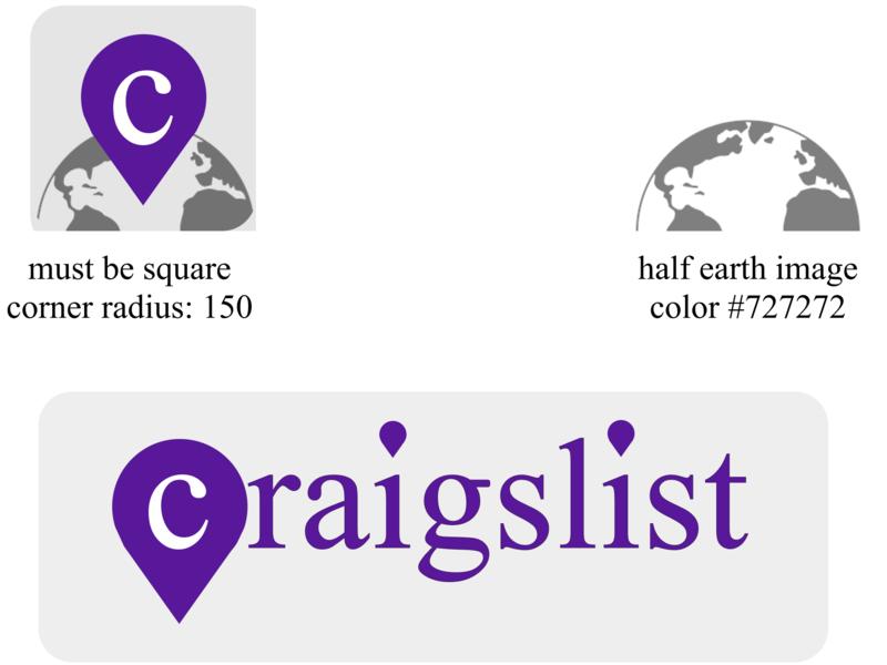 Craigslist Rebrand typography lettering web design app icon vector website ux logo ui branding