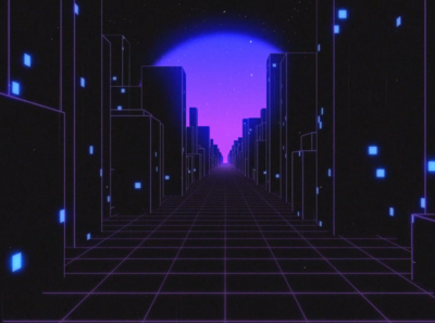 Retro Cityscape
