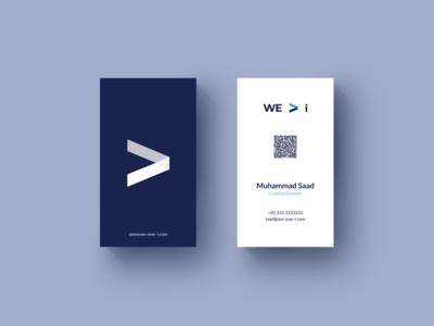 We Over I Business Card Design