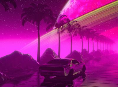 Cosmic Retro Scene
