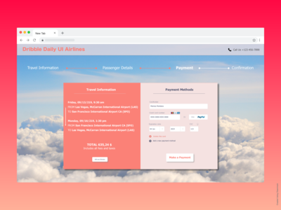 Dribble Daily UI Airline Check out