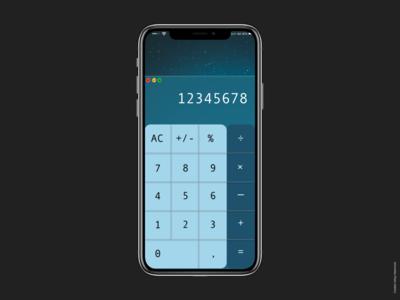 Dribble Daily UI Calculator