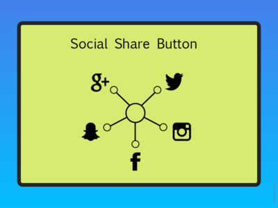 Social Share Button DailyUI 010 Challenge