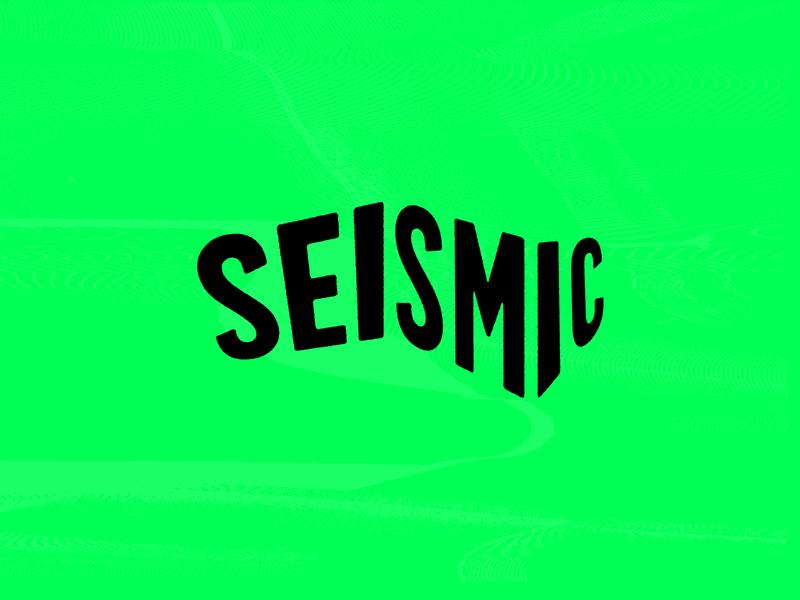 Seismic neon vector waves acid logo