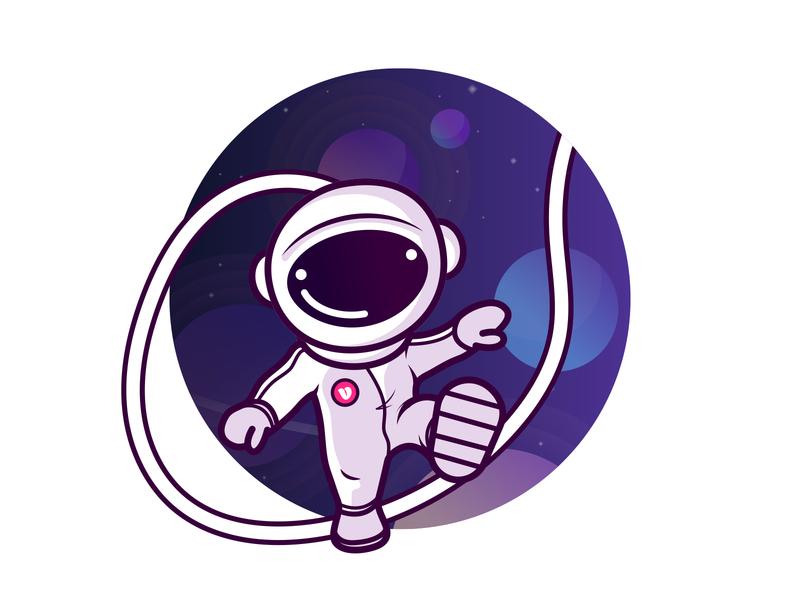 Voucher code character vouchercloud vector spaceman illustration character design astronaut