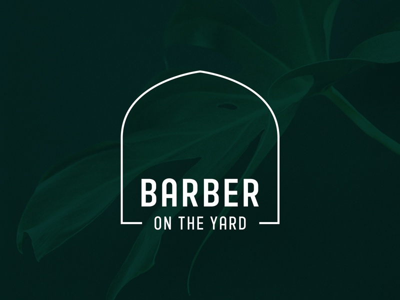 Barber On The Yard Logo hairdresser barbershop branding barbers