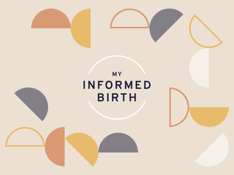 My Informed Birth - Hypnobirthing relaxing muted colors brand identity brand design shapes logo design logo branding pregnancy