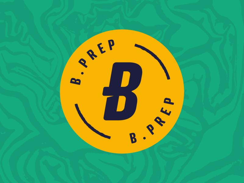 B.Prep ecommerce texture healthy food food healthy food branding meals logo