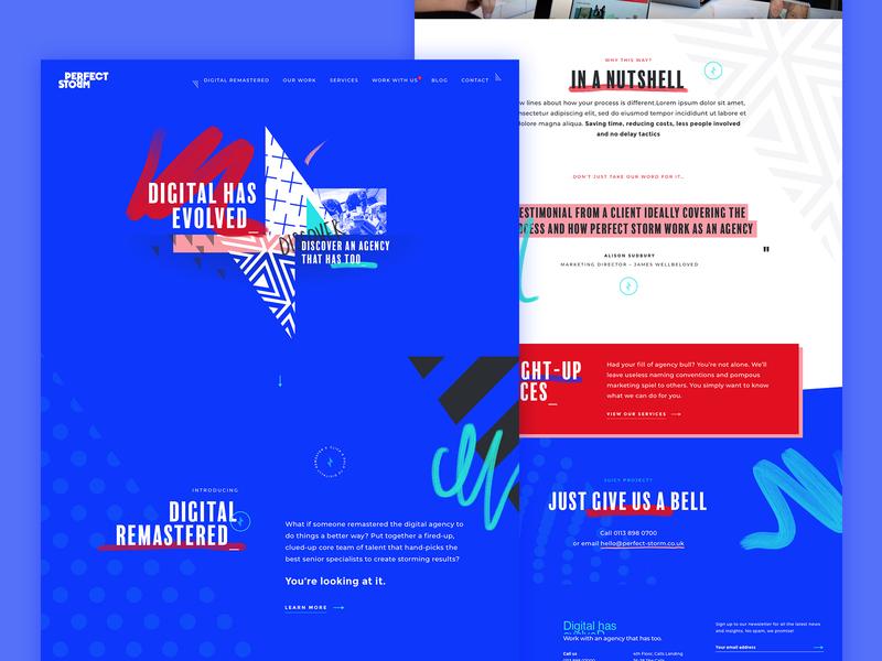Perfect Storm Website interactive digital interactive design ui ux